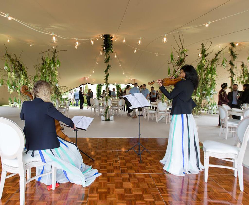 Flextent stretchtent op uw bruiloft