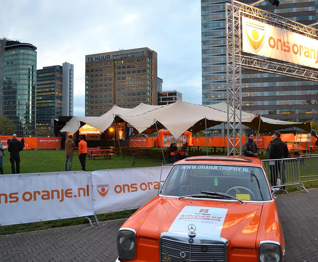 Flextent bij ons oranje evenement