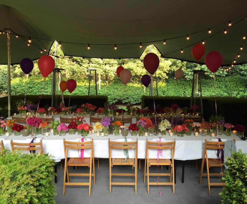 Tent voor prive feest in tuin