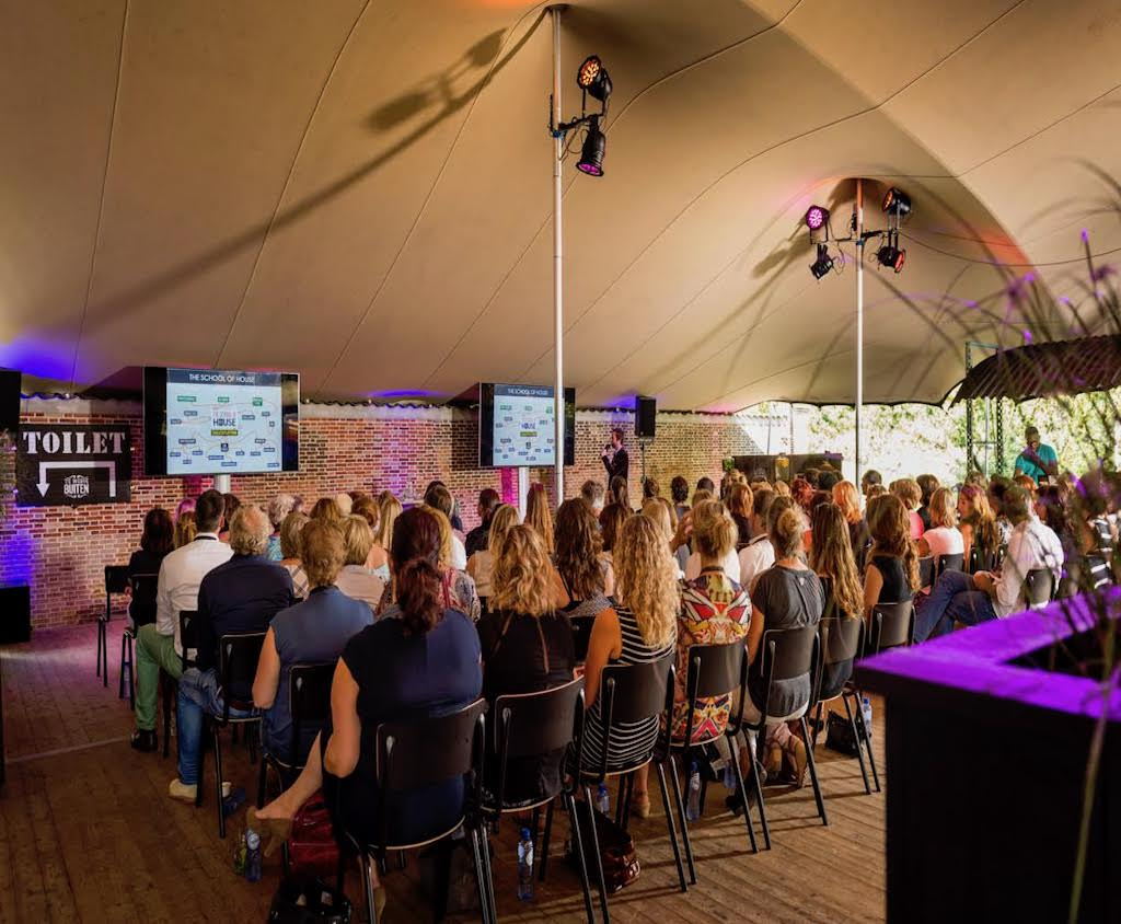 Flextent stretchtent voor seminars