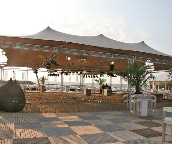 Flextent voor strandpaviljoens